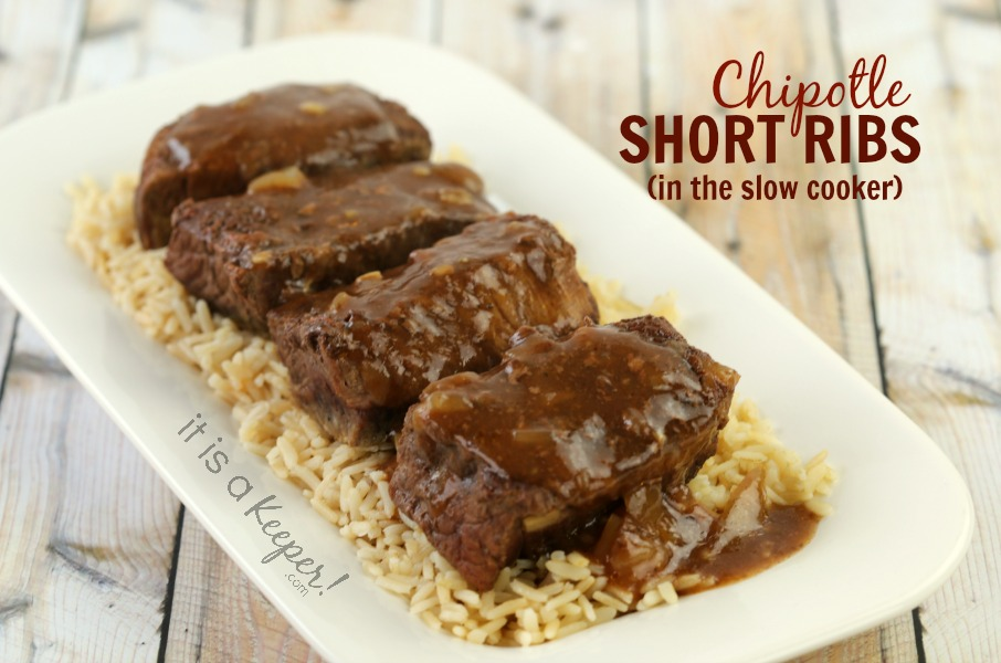 These Chipotle Short Ribs are one of the best slow cooker recipes of all time.