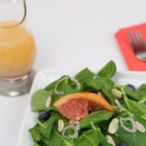 Kale Spinach Salad Grapefruit Vinaigrette - It Is a Keeper