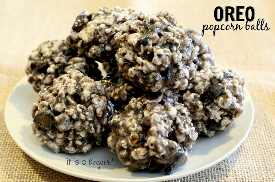 Oreo Popcorn Balls - It Is a keeper