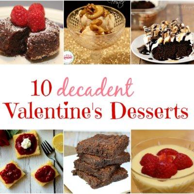 10 Valentines Dessert Recipes