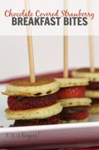 Simple Breakfast Recipes Strawberry breakfast Bites - It Is a Keeper