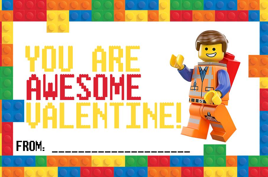 LEGO Valentine Cards Printable