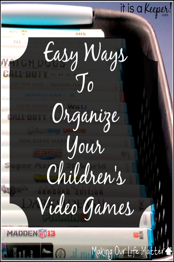 organize children's video games