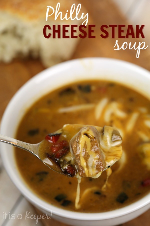 30 Minute Philly Cheese Steak Soup - It Is a Keeper