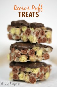 Desserts No Bake Recipe Reese's Puff Treats - It Is a Keeper