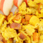 Ham and Sweet Potato Scrambled Eggs - SLIDER - It is A Keeper