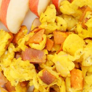 Ham and Sweet Potato Scrambled Eggs - SLIDER - It is A Keeper