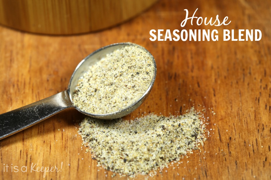 House Seasoning Blend in a tablespoon