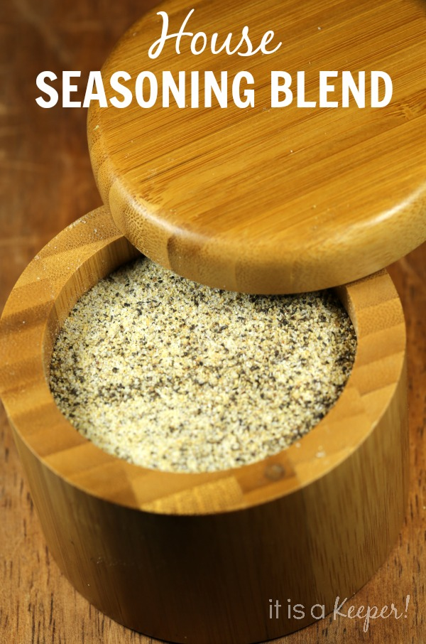 house seasoning blend in a wooden holder
