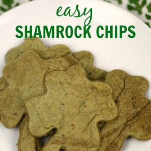 These easy Shamrock Chips are the perfect St. Patricks Day snack. Because they're baked, they are a healthy snack, too!