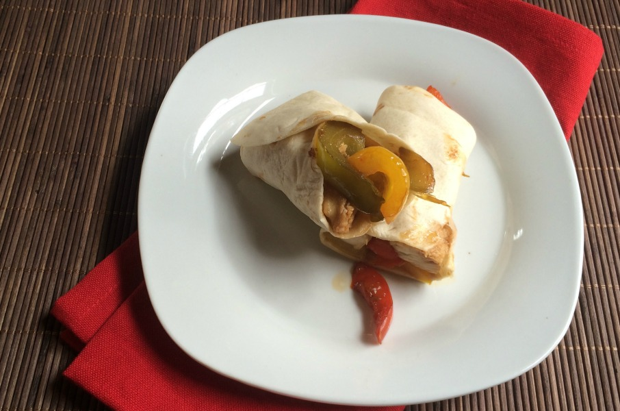 Dinner Recipes quick easy Chicken and Pepper Stir Fry wrap - it is a keeper