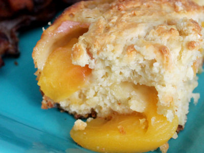 Peach Cobbler Coffee Cake