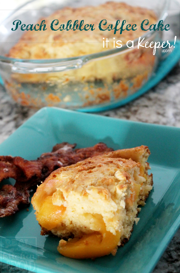 Peach Cobbler Coffee Cake HERO - It is A Keeper