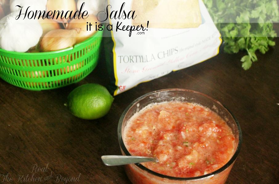 Homemade Salsa - CONTENT - It is A Keeper