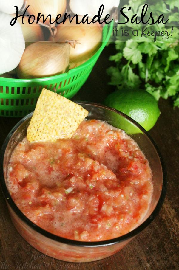 Homemade Salsa Recipe - HERO - It is A Keeper