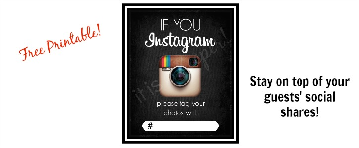 Instagram Party Printable