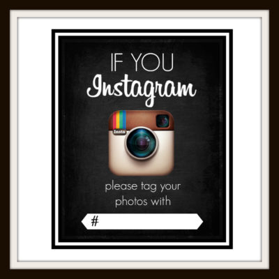 Instagram Sign Printable