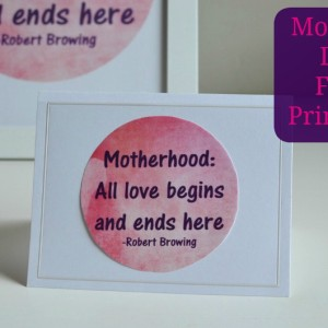 Mother's Day Free Printables- It Is A Keeper