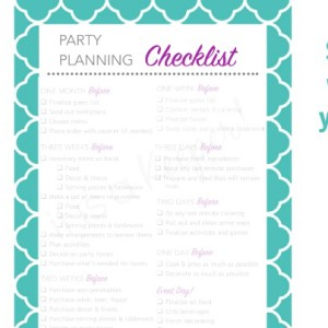 Party Planning Checklist Free Printable - It Is a Keeper