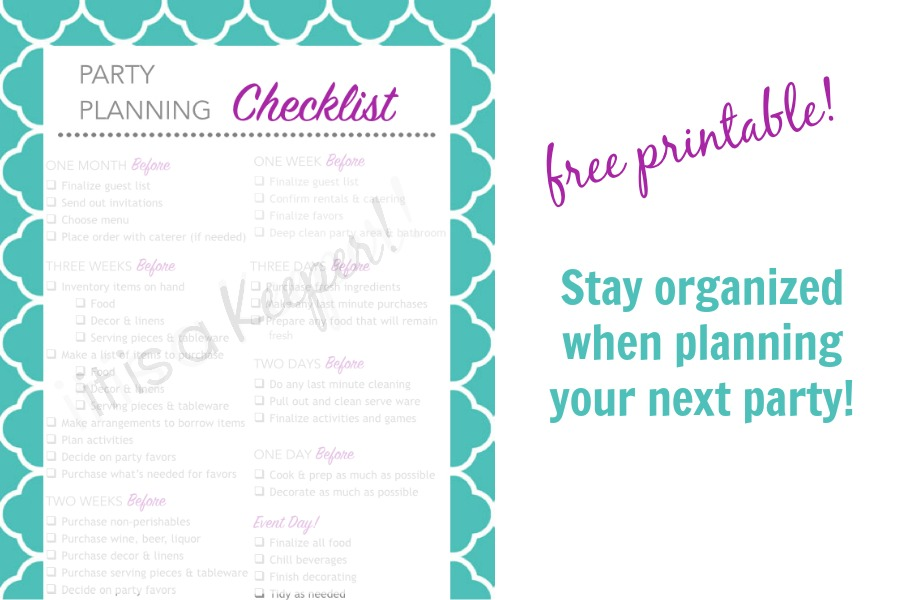 photo about Printable Party Planning Checklist named Bash Creating Record Printable It Is a Keeper