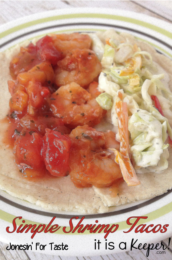 Shrimp Tacos can be made in under 30 minutes with a simple marinade made from salsa.