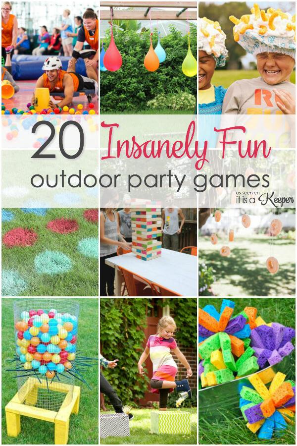 games outdoor party teen