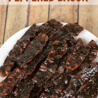 This sweet and spicy Candied Peppered Bacon recipe is insanely addictive!