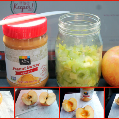 Celery and Peanut Butter Apples - CONTENT 2 -It is A Keeper