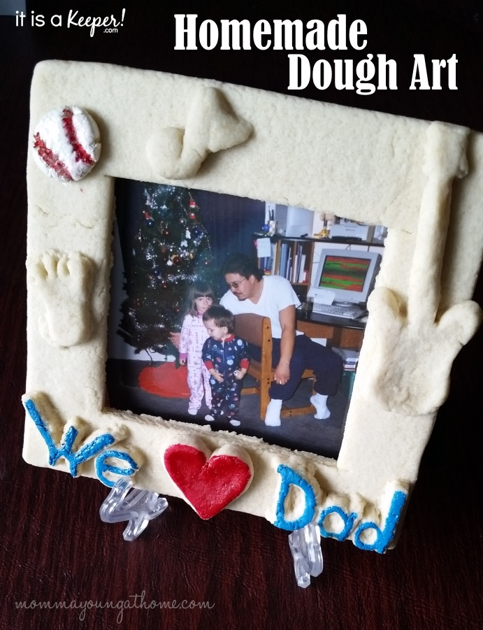 Homemade Dough Art for Father's Day