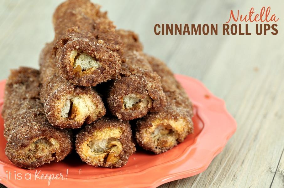 Nutella Cinnamon Roll Ups - It Is a Keeper