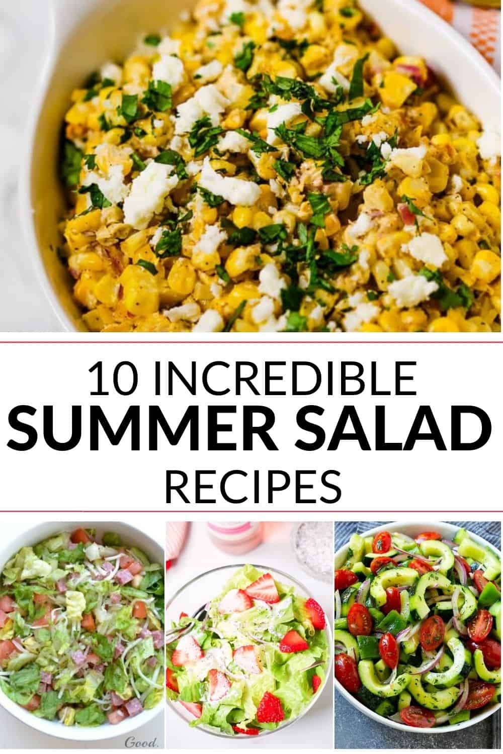Collection of summer salad recipes
