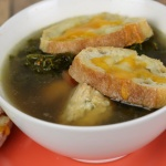 Turkey and Kale Soup with Cheddar Crostini