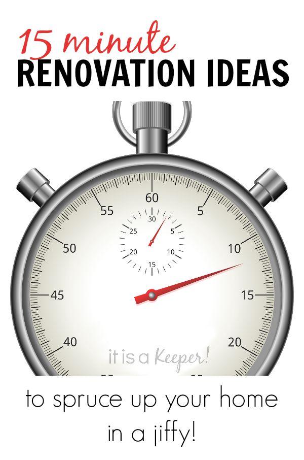 15 Minute Renovation Ideas