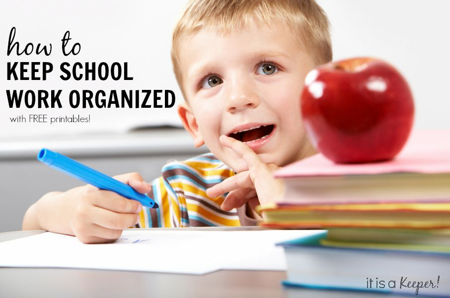 A fool proof way to keep school work organized with FREE printables