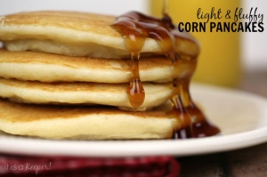 Light and fluffy Corn Pancakes - It Is a Keeper H