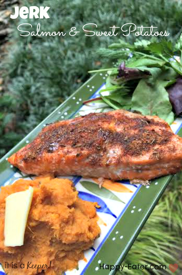jerk salmon and sweet potatoes- Hero - It is a keeper