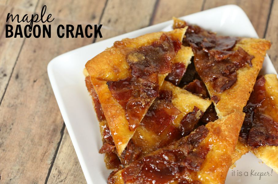 This easy Maple Bacon Crack recipe is addicting! You'l want to make 2 batches!