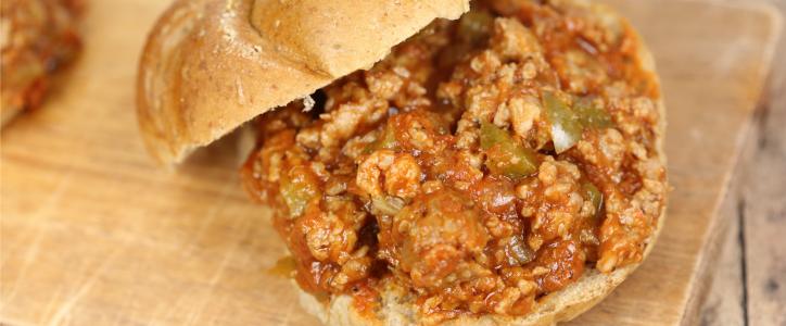 These Sausage and Pepper Sloppy Joes are a mash up of my 2 favorite sandwiches. It's a quick and easy 30 minute recipe
