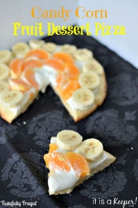 Candy Corn Fruit Dessert Pizza www.itisakeeper.com