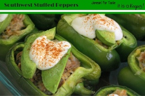 Use up leftovers and make this scrumptious Southwest Stuffed Peppers.