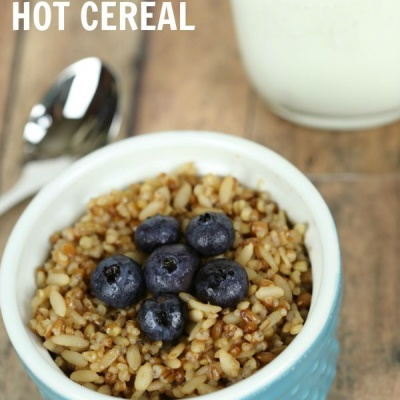 This 2 minute multi-grain hot cereal is a quick and easy breakfast recipe