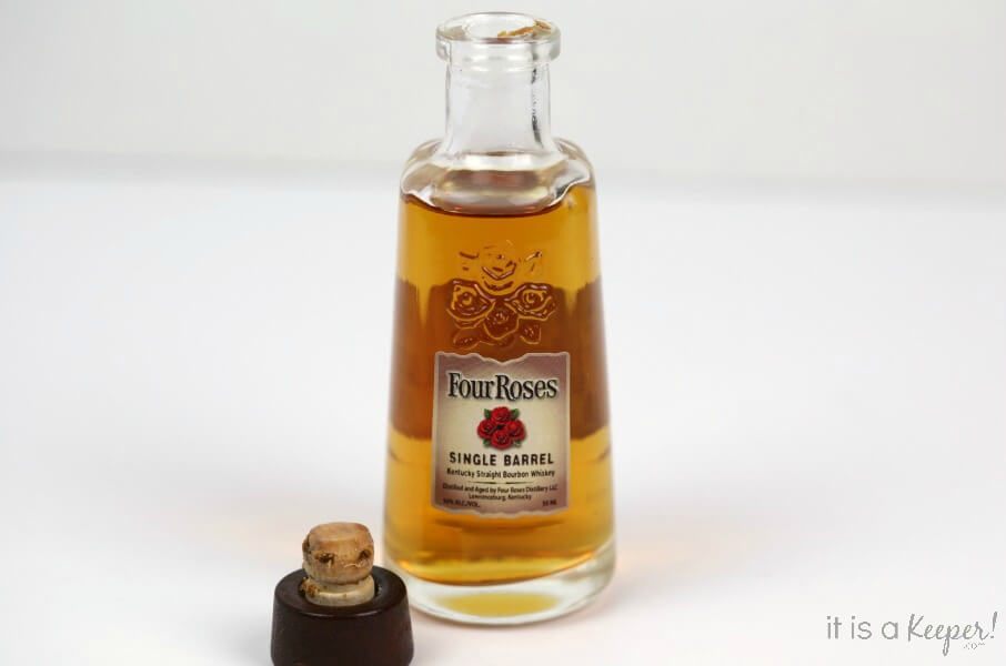 Four Roses Single Barrel Bourdon, with the top off