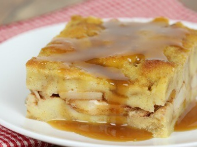 Apple Bourbon Bread Pudding