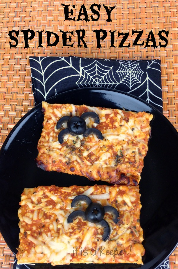 Halloween Treat Recipes | Easy Spider Pizzas