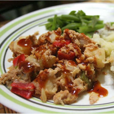 Slow Cooker Luau Meatloaf