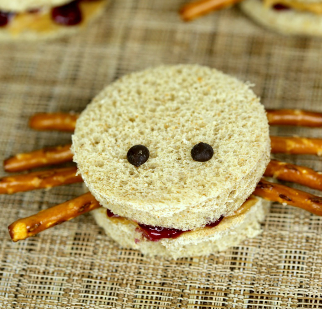 These easy spider sandwiches are a fun Halloween Themed Food