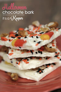 This Halloween Chocolate Bark is one of my favorite easy Halloween recipes