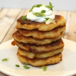 Easy Potato Pancakes – an easy and delicious recipe to use up leftover mashed potatoes