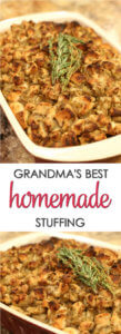 Grandma's Thanksgiving Stuffing is an easy turkey stuffing recipe that is always on our holiday menu. It's definitely one of the best Thanksgiving recipes ever.