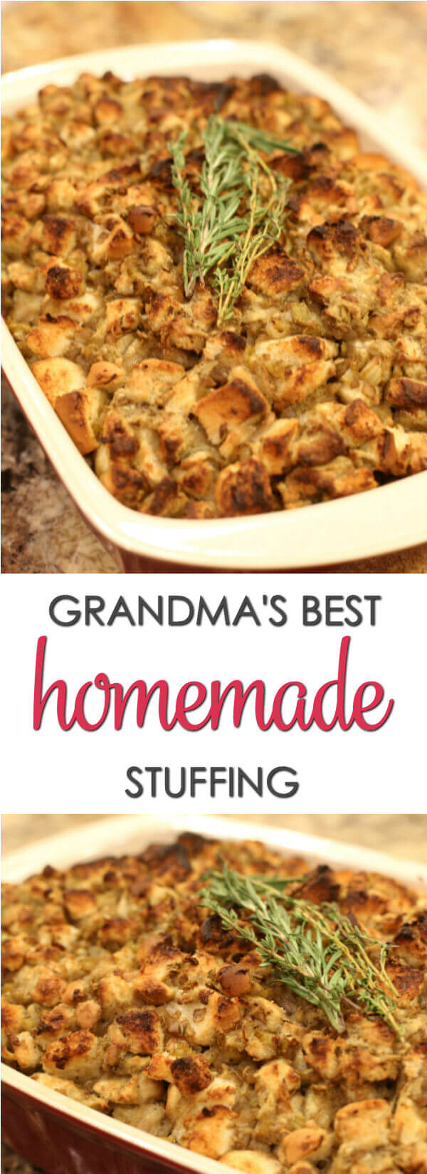 Grandma's Thanksgiving Stuffing is an easy turkey stuffing recipe that is always on our holiday menu.It's definitely one of the best Thanksgiving recipes ever.